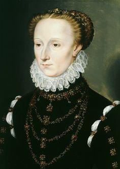 1570 Madeleine le Clerc du Tremblay by Clouet (Weiss Gallery)