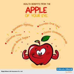 Apple – a fruit that loves you back. Packed with health benefits, nutritious content, and a lot of flavor, apples are simply great for you. #HealthTips