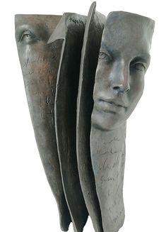 Marque Page Sculpture bronze de Paola Grizi Melting Art Gallery - Lille - France