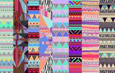 geometric aztec iphone patterns - from Vasare Nar