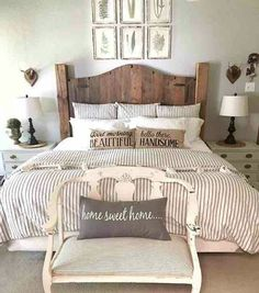 Love the pillows and headboard!