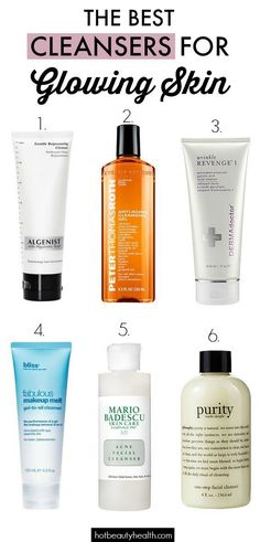 The first step to skin health and a glowing complexion is cleansing.  The best facial cleansers for dry,  acne-prone, oil, sensitive, and normal skin types. #facialcleanserforacne