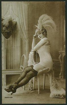 vintage lady  looking prim and proper!