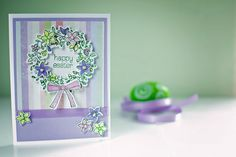 Circle of Spring Wreath card,  Stampin' Up, Pretty as a Picture Scrapping