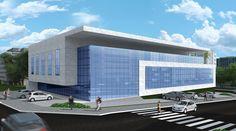 Edifício Corporativo Banks Office, Warehouse Design, T Home, Church Building, Office Buildings, Facade Design, New City, Convention Centre, Building Design