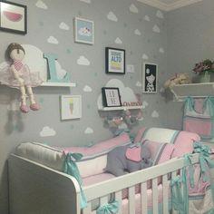 Inspiração para o quarto do bebê #baby #bebe #inspiração #quarto #room #cuartoniñasprincesa