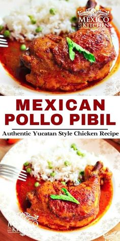 Marinated in colorful achiote and citrus marinade and served with pickled onions, this chicken dish is one of the most popular dishes all over the Yucatán. Quick and easy recipe to prepared and so delicious. #pibil #pollopibil #chickenpibil Mexico Food, Pickled Onions, Vegetarian Options, Just Cooking, Mexican Food Recipes, Mexican Cooking, Kitchen Recipes, Quick Easy Meals, Recipes