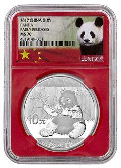 2017 China 10 Yuan 30g Silver Panda NGC MS70 ER (Panda Label Red Core) SKU45048