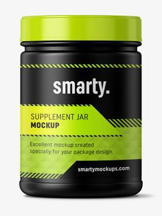 Supplement jar mockup / Matte