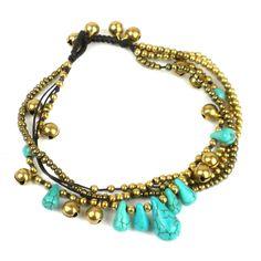 Devoted Tree Charm Bells Lace Hemp Anklet Natural Macrame Handmade Ankle Bracelet Fashion Jewelry