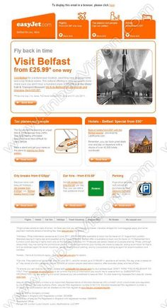 Company:    Easyjet Holidays   Subject:    Belfast - fly back in time from GBP25.99               INBOXVISION is a global database and email gallery of 1.5 million B2C and B2B promotional emails and newsletter templates, providing email design ideas and email marketing intelligence www.inboxvision.com/blog  #EmailMarketing #DigitalMarketing #EmailDesign #EmailTemplate #InboxVision  #SocialMedia #EmailNewsletters