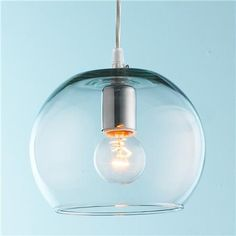 Young House Love Bubble Glass Pendant-could see five of these over kitchen table at different heights