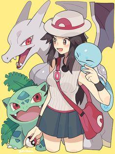 (18) Twitter Pokemon Waifu, Pokemon Firered, Pokemon Comics, Pokemon Fan Art, Pokemon Stuff, Female Pokemon Trainers, Pokemon Adventures Manga, Fire Pokemon, Pokemon Game Characters