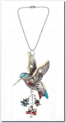 Ganz Color Art Hummingbird Car Charm $6.95