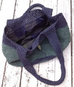 Crochet raffia bag