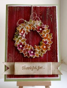 Wonderous Wreath by Loris67 - Cards and Paper Crafts at Splitcoaststampers