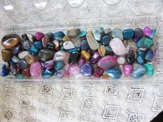 Large Lot of Tumbled Stones for Jewelry or Decor - 1.5 Pounds - Colorful by Gementia13Jewels, $45.00