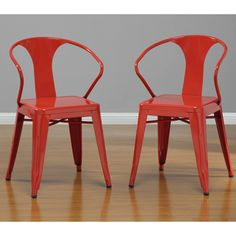 Red Tabouret Stacking Chairs (Set of 4) | Overstock.com Shopping - Great Deals on Dining Chairs