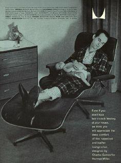 Eames Lounge & Ottoman - 1959 Advertisement Sunset Magazine (October)