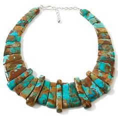 "Jay King Boulder Turquoise Sterling Silver 15-1/4"" Collar Necklace at HSN.com."