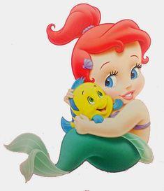 Disney Little Princess Baby Images On A Transparent Background Ariel Disney, Disney Little Mermaids, Ariel The Little Mermaid, Cute Disney, Disney Art, Ariel Ariel, Disney Stuff, Ariel Bebe, Baby Ariel