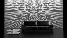 Trójwymiarowa ściana, ściana z gipsu, ciekawa ściana, elegancka dekoracja ścienna. Zobacz więcej na: https://www.homify.pl/katalogi-inspiracji/17051/niekonwencjonalne-materialy-do-dekoracji-scian