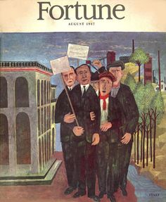 Fortune Magazine Cover Copyright 1947 Italy On Strike - www.MadMenArt.com | Fortune Magazine was founded in 1929 as a distinguished and de luxe publication. We especially admire the outstanding graphic design and illustrations of the early era. #FortuneMagazine #GraphicArt #GraphicDesign #Illustrations #Design #Vintage #VintageIllustrations #MagazineCovers