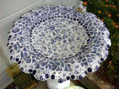 mosaic birdbath | mosaic bird bath