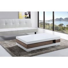 Add simplistic style to your living room decor with this artsy coffee table. Designed with a smart European style, this modern white-topped coffee table features a walnut-stained MDF core with plentiful drawer space for your storage needs. Centre Table Design, Tea Table Design, Sofa Design, Küchen Design, Centre Table Living Room, Center Table, Table Furniture, Luxury Furniture, Furniture Design