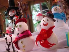 Glittered Snowballs, Snowmen and Ornaments from DIYnetwork.com