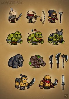Check out Monster Cartoon Characters RPG 1 by EatCreatures on Creative Market