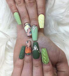 Disney Acrylic Nails, Best Acrylic Nails, Nail Art Dessin, Hair And Nails, My Nails, Disney Nail Designs, Frozen Nails, Gothic Nails, Dream Nails