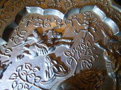 Old Chinese Qing dynasty mirror / Antiguo espejo chino dinastia Qing                                                                                                                                                     Más