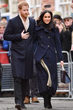 1 December 2017 - Prince Harry and Meghan Markle make their debut in their first royal engagement.