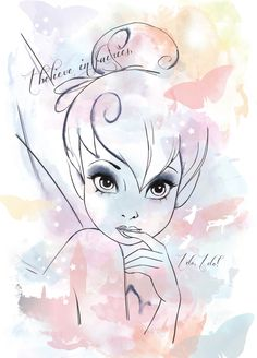 Tinkerbell quotes disney pinterest tinkerbell and disney quotes i really wanna sketch this tinkerbell by julianne mcpeters voltagebd Choice Image
