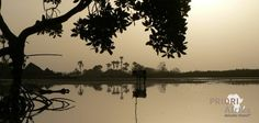Guinea-Bissau Flusslandschaft Schattenspiele