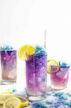 Color Changing Galaxy Lemonade Slushie - There's no food coloring in this Color Changing Lemonade Slushie! Just a dash of magic from magic ice and delicious lemonade that kids and adults will love. The ultimate Summer Lemonade drink!