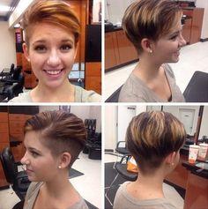 Color de pelo de moda para el pelo corto