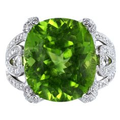 1stdibs - Garrard+of+London+Peridot+&+Diamond+Cocktail+Ring explore items from 1,700+ global dealers at 1stdibs.com