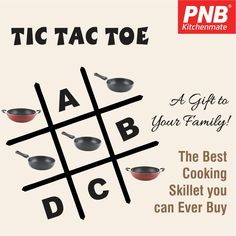 #TicTacToe - An awesome game of our childhood!!🙂 What would be your next move? Comment your answer below! #Game #Puzzle #fun #PNBKitchemate #kitchenset #kitchenlife #kitchen #kitchendesign #kitchenaid #kitchenremodel #kitchener #best #newmodel #new #newproducts #hard #pressurecooker #mykitchen #mykitchenrules #my #models #models1 #modelswanted #cook #cookingram #cooking #çook