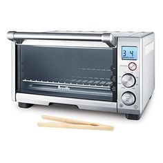 Breville Brushed Stainless Steel Smart Compact Toaster Oven with Free Bamboo Toast Tongs * Find out more about the great product at the image link.