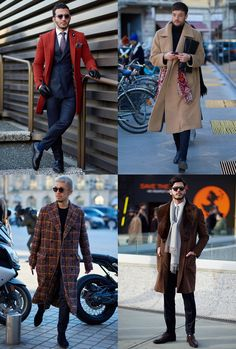 Men's AW17 Fashion Week Street Style Trends - Statement Coats