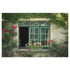 Window surrounded by climbing plants and flowers   http://www.cafepress.com/+window_surrounded_by_climbing_plants_and_flowers_large_poster,629929915#./+window_surrounded_by_climbing_plants_and_flowers_large_poster%2C629929915?&_suid=1365926163942007381256814086445
