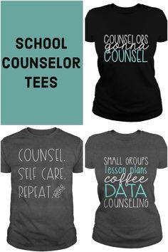 Counselor Tees - School Counselor T-Shirts - Counselor Keri School Counselor Office, Elementary School Counselor, School Counseling, Group Counseling, School Staff, Graduate School, Teaching Shirts, Shirts For Teachers, Teachers Pet