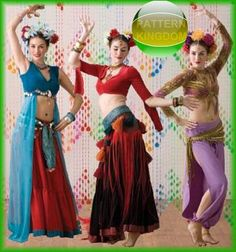 Simplicity 3832 American Tribal Style Belly Dance Patterns