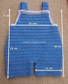 .Linda's Crafty Corner: Baby Dungaree Pattern 3 M
