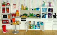 Kitchen, organized neatly by color