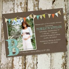 baby boy shower invitation with maternity or by katiedidesigns, $13.00