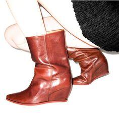 Wedge Boot Cognac