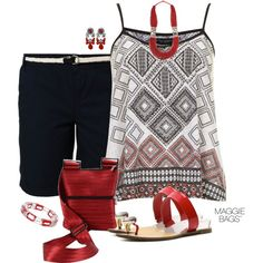 """""""Red & Black"""" by maggiebags on Polyvore"""